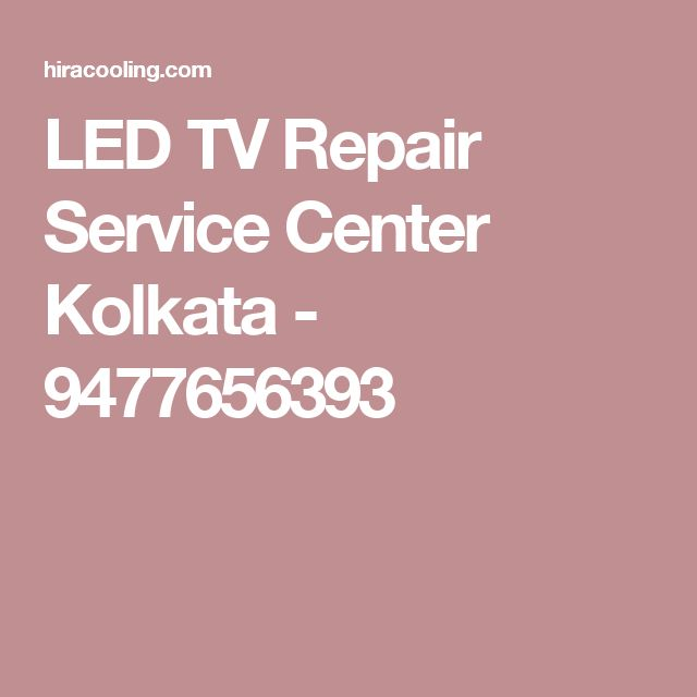 LED TV Repair Service Center Kolkata - 9477656393