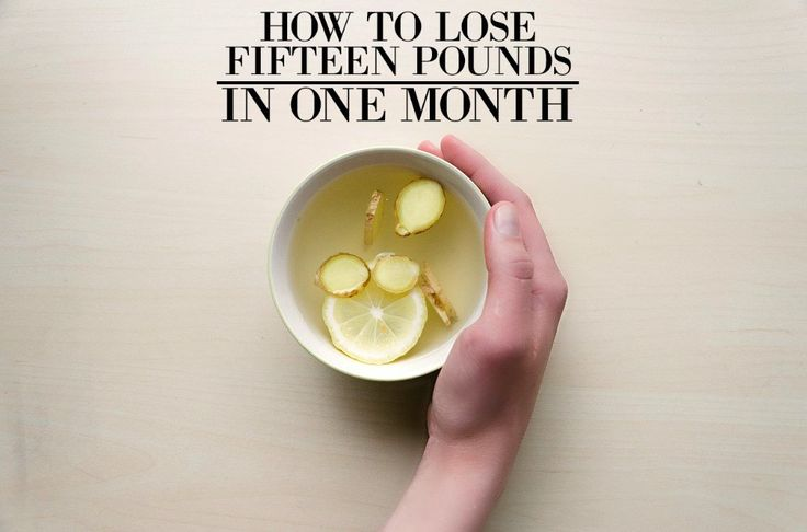 How to lose 15 pounds in 1 month without exercise 3