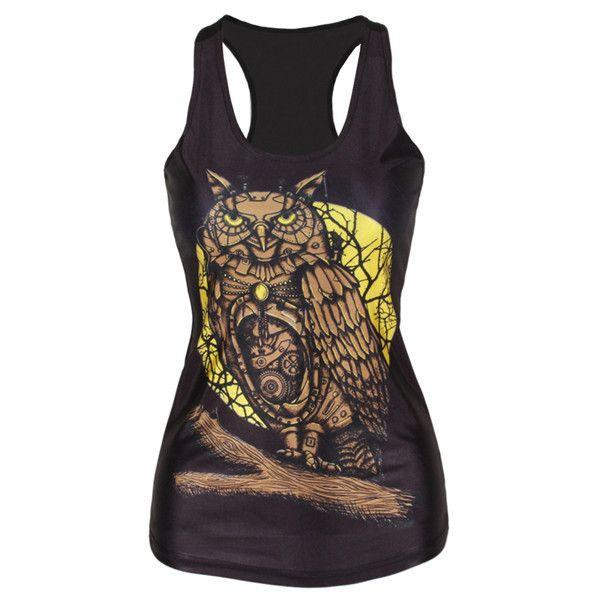 Brown Owl Tank Top