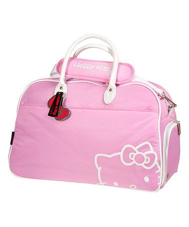 This Hello Kitty Pink Premium Collection Duffle Bag by Hello Kitty is perfect! #zulilyfinds