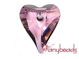 6240 Wild Heart Pendant - Antique Pink