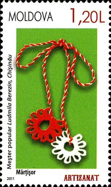 Moldova Postage Stamps (Commemorative) 2011 № 738 | Mărțișor Talisman | Issue: Handicrafts