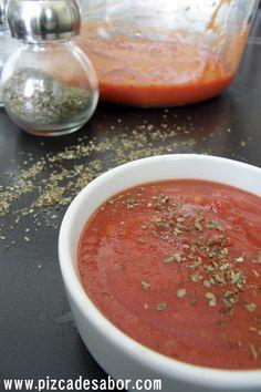 Salsa de  tomate para pizza casera y rapida