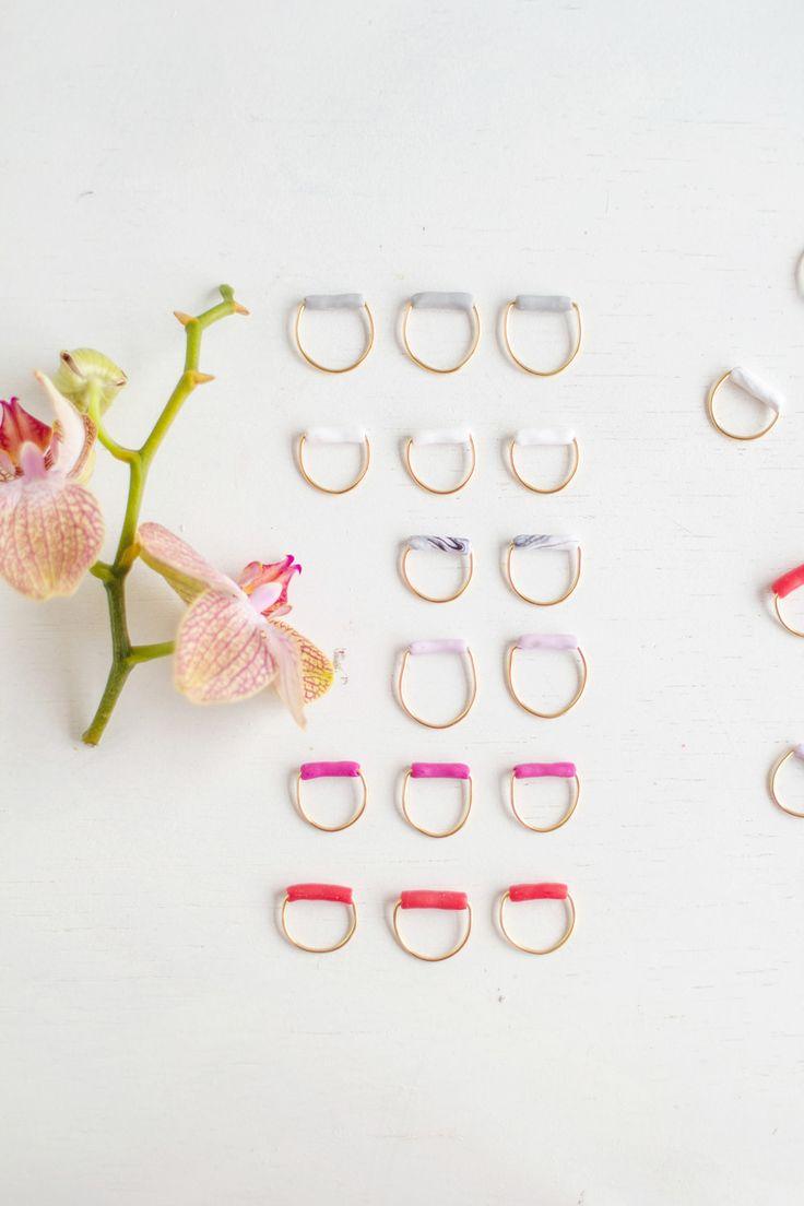 Caiga anillos de tubo de bricolaje