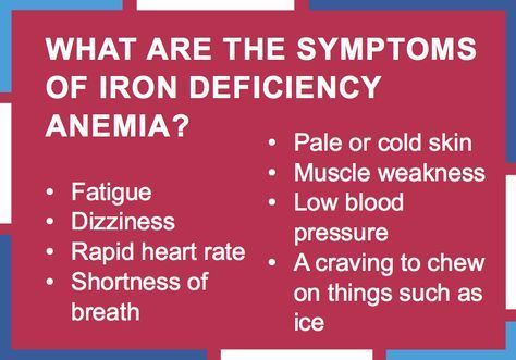 what are the symptoms of iron deficiency anemia? #lifesouth