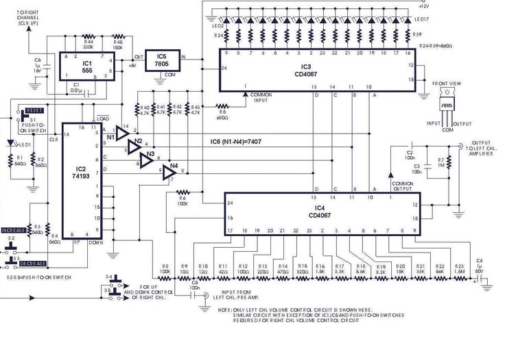 Digital Volume Control circuit diagrams, schematics