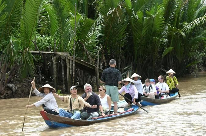 Private Cu Chi Tunnels and Mekong Delta: Full-Day Guided Tour This full-day private tour from Ho Chi Minh City combines visits to the Cu Chi tunnels and the Mekong Delta. You will experience Vietnam's wartime history as well as modern day life in the agricultural region at the mouth of the mighty Mekong River. We'll pick you up at your Ho Chi Minh City hotel in the early morning, and you'll travel with your English-speaking guide to the Cu Chi tunnels. The drive is aro...