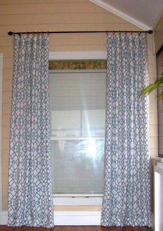 SALE Windsor Mariner Curtain Panels 50 x 84 by SewDivinebyAmanda, $135.00