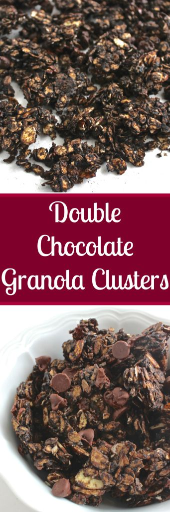 Healthy Chocolate Almond Granola Clusters- so decadent and chocolate-y!