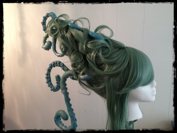 Sea Witch wig?? Wowee wow wow. Steampunk Wig Sea Witch Custom Wig with Octopus by monkeythumbs, $139.00