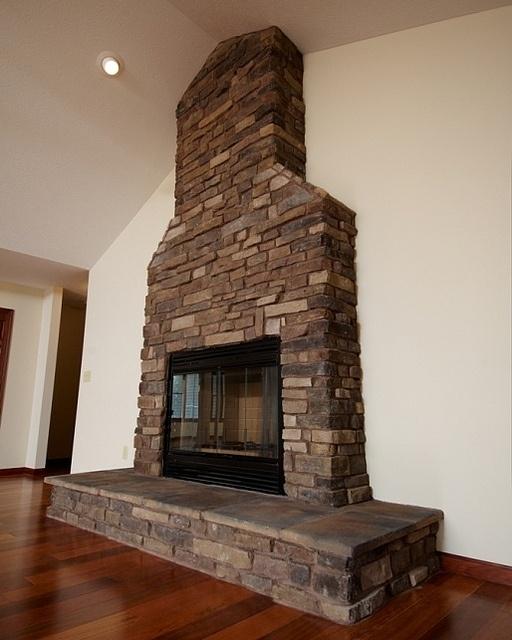 Stone Faced Fireplace by Wayne Homes, via Flickr   Custom ...