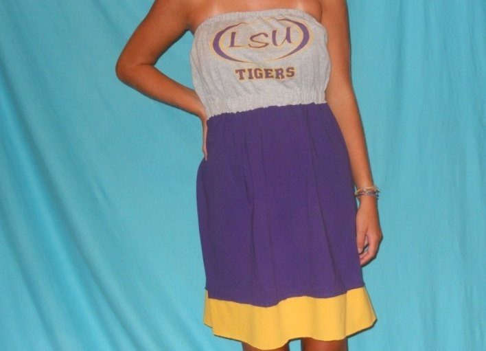 LSU Tigers Game Day Dress - Football Apparel.via Etsy.