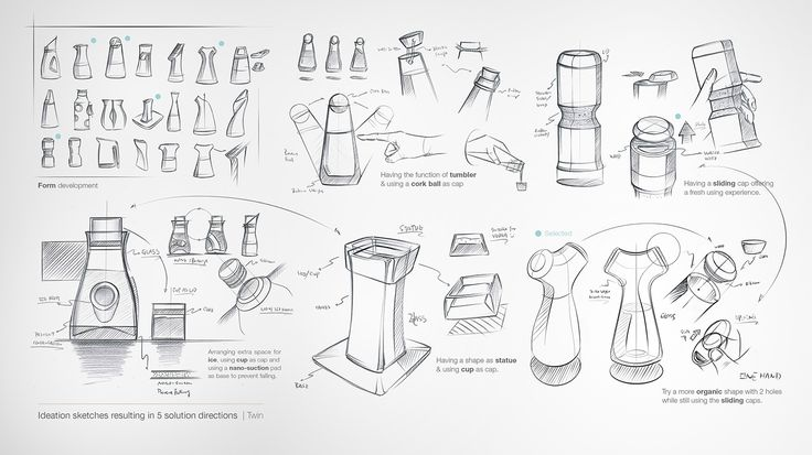 TWIN Carafe #id #Industrial #product #design #sketch