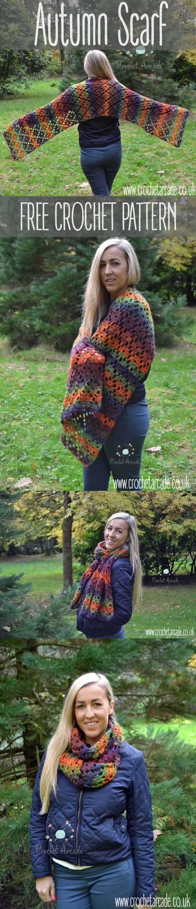 Autumn Scarf Free Crochet Pattern