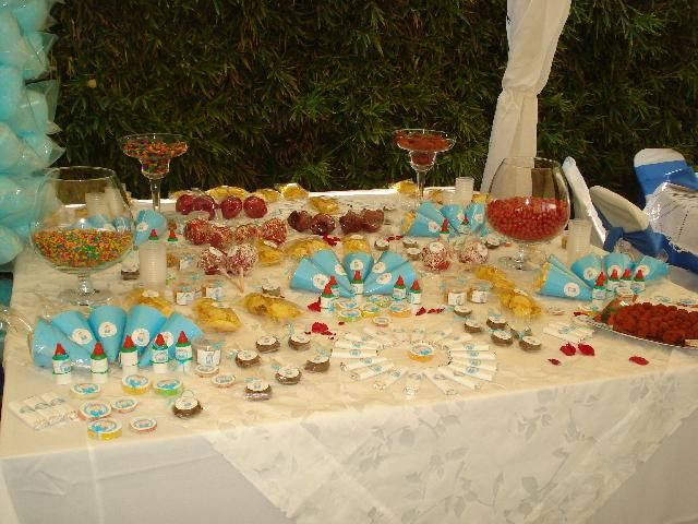 mesas de dulces frituras y fruta - Buscar con Google