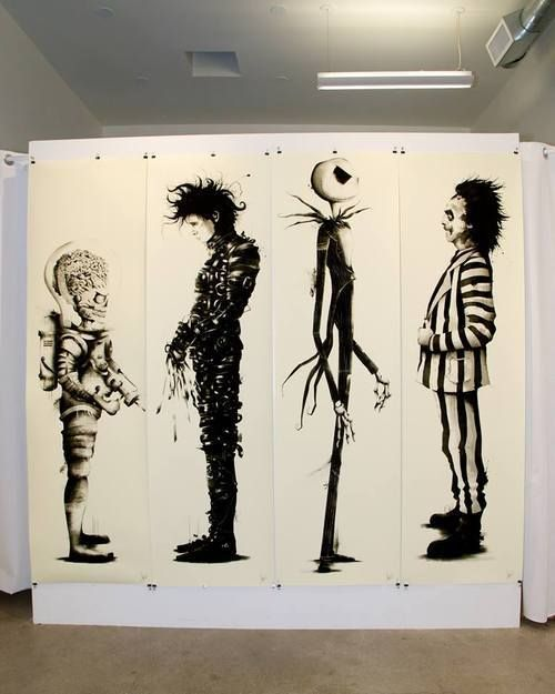 an analysis of tim burtons use of colors and size in the movie edward scissorhands Tim burton: the artist's beetlejuice (1988), batman (1989), and edward scissorhands (1990) made him a brand name add color to bring the story to life.