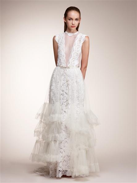 Pat Kerr Vintage Lace Couture Gown $6,990.00