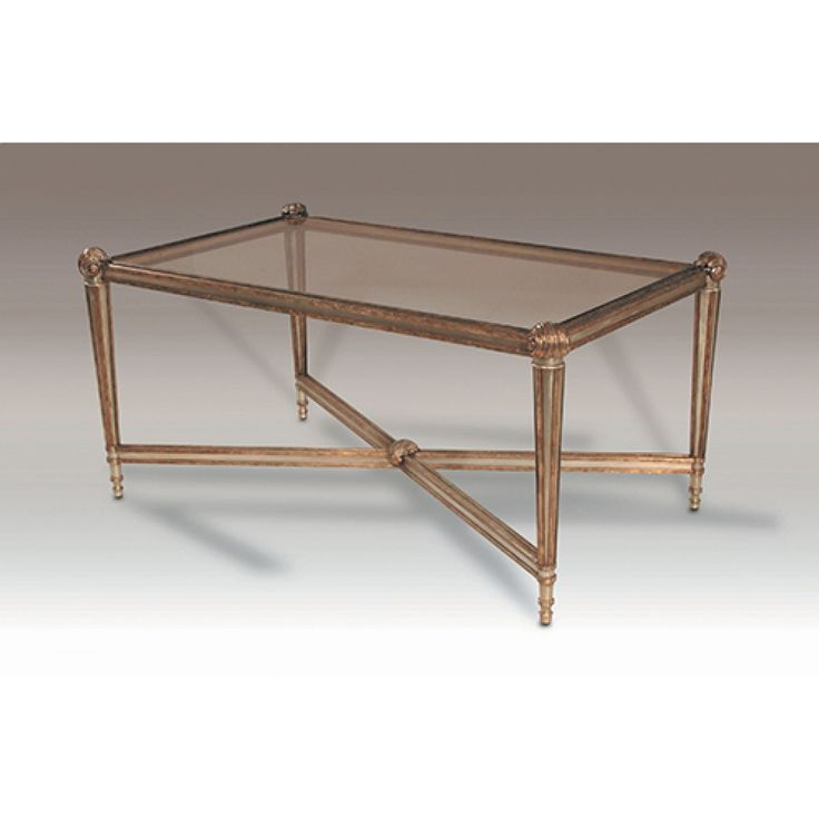 La Barge Cast Aluminum Neoclassical Cocktail Table With