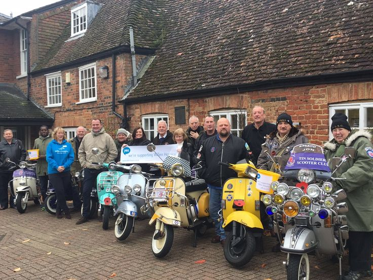 We'd like to say a big thank you to The Tin Soldiers Scooter Club who've ben busy fundraising and supporting us throughout the year! They popped by the Hospice with their scooters before they are to be tucked away for the winter. On going support #MakeaDifference!