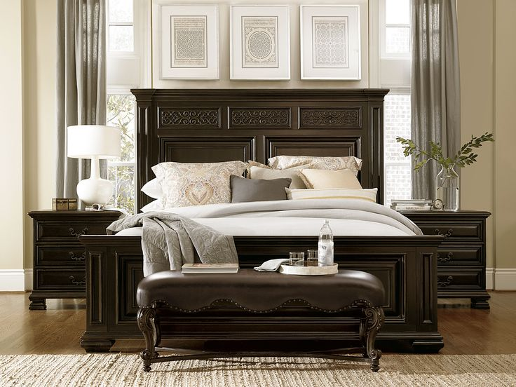 antique black bedroom furniture. Modren Black Universal Furniture Castella Francesco Bedroom Set With Mirror In Antique  Black Not So Much Into The Grat Drapes In Black