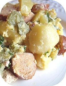 Salade strasbourgeoise (végétarienne).