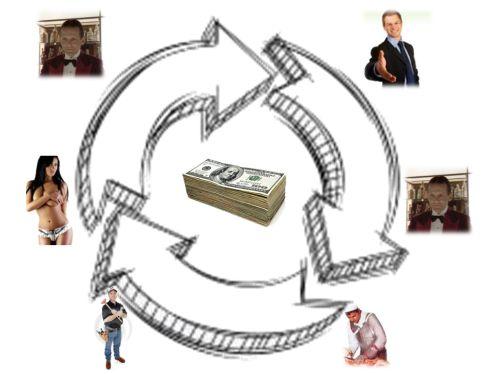 Il denaro circola per creare e sanare debiti...