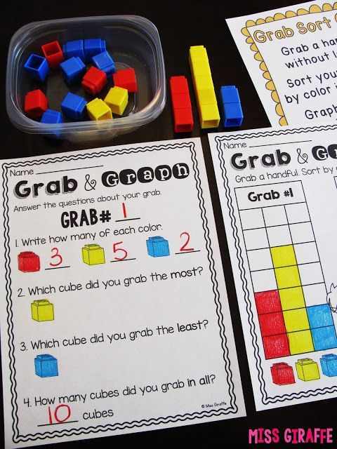 Graphing and Data Analysis first grade ideas and activities that I love! These are such fun math games to practice graphing!