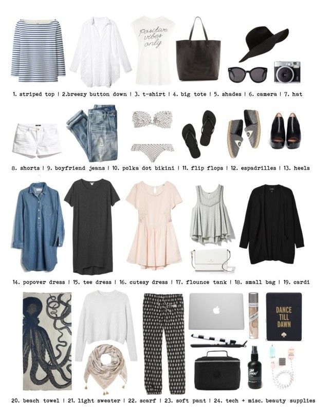 """""""sd packing list"""" by thimble ❤ liked on Polyvore featuring J.Crew, Zimmermann, Uniqlo, Monki, H&M, CP Shades, Madewell, Havaianas, Tee and Cake and Circus By Sam Edelman"""