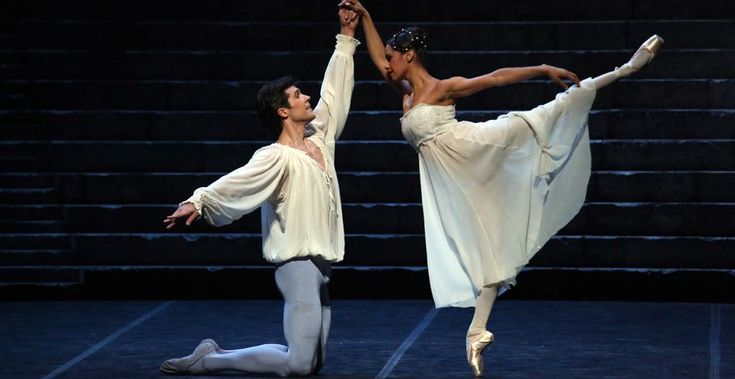 Misty Copeland with Roberto Bolle in Romeo and Juliet, photo by Brescia and Amisano, Teatro alla Scala, 2016