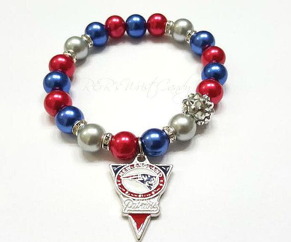 New England Patriots, Women Bracelets, Football Bracelets, NFL Team Bracelets