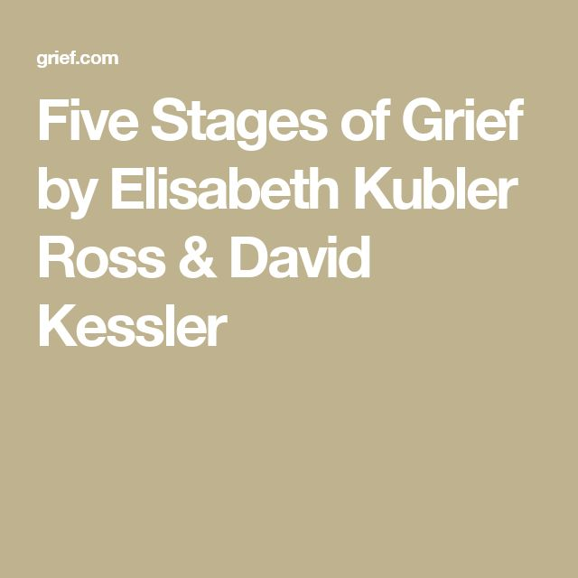 the five stages of grief in on death and dying by elisabeth kubler ross Kubler-ross grief and loss study play  kubler ross 5 stages of death and dying 8 terms kubler-ross' theory and the stages of death other sets by this creator.