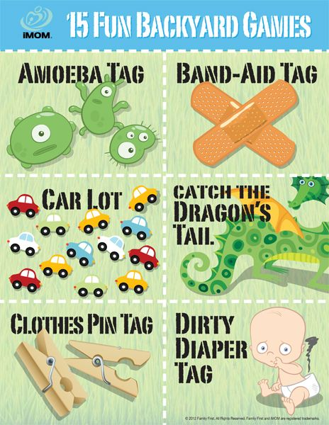 15 Fun Backyard Games #Printable #kidsgames