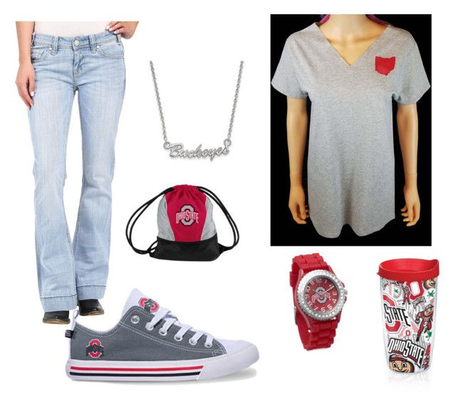 Ohio State Game Day by sejs1388 on Polyvore featuring Sassy's Edgy Designs, Rock & Roll Cowgirl, Logo Chair Inc., LogoArt and Tervis