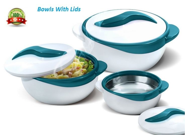 Pyrex Bowl Set 3 Piece Dish Bowls With Lids Salad Vegetable Serving Casserole Turquoise, Purple or Red Product Details: Main colour: Turquoise ...... see for Purple and RedThree (3) Dish Sizes: 0.5 qt 1 qt. 2.5 qt. Inner stainless steel construction and polyurethane insulation Locking lids Holds temperature up to four (4) - six (6) Hours Flexibility Between your errands & the kids' school and extracurricular activities, making dinner is hard enough - and sometimes you may need to stagger…