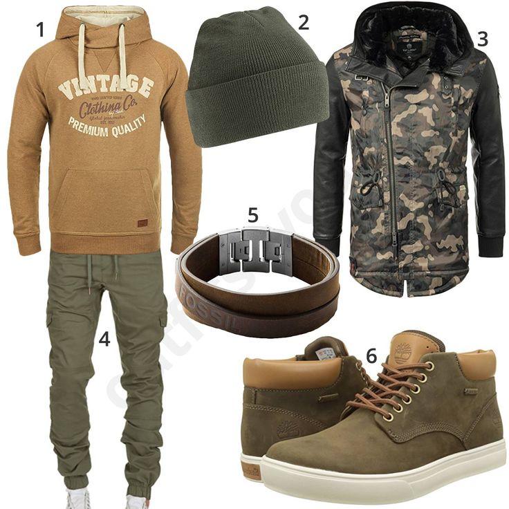 Lässiger Street-Style mit Khaki Schuhen, Hose und Mütze – Andres O.