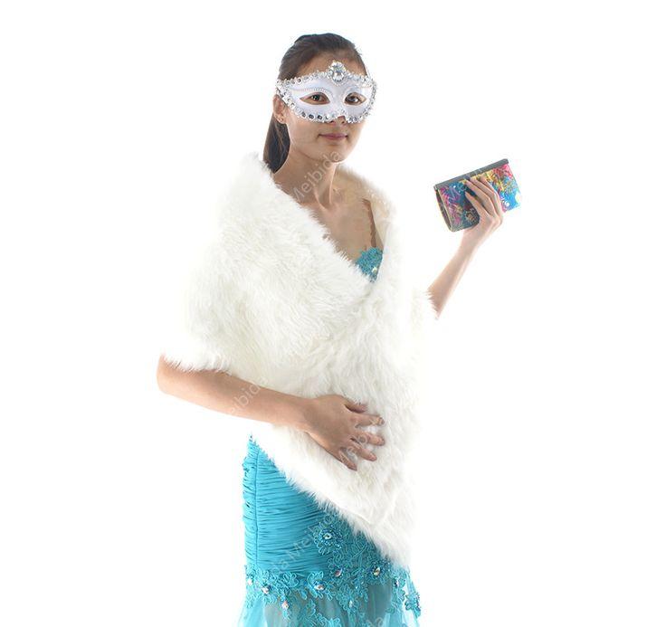 Großhandel Günstige Ivory Weiß Hochzeit Bolero Coat Damen Winterjacken und Mäntel One Size Wrap für Abendkleid //Price: $US $23.23 & FREE Shipping //     #abendkleider