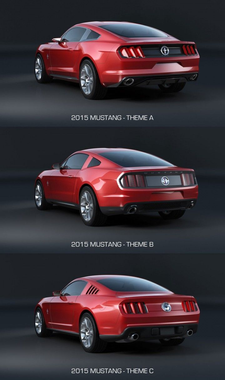 2015 ford mustang design theme comparison rear end car body design