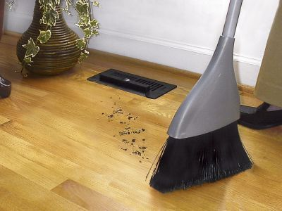 Vent-vac - must have installed in home on hard floors; vacuum intakes dirt, dust, crumbs after sweeping, makes for easy cleanup especially in kitchen! Got the idea from hair salon floors!