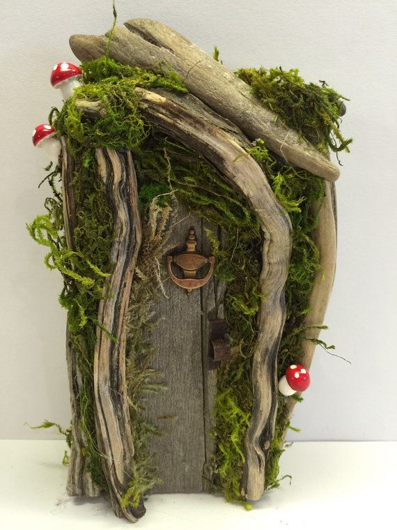 Rustic /Shabby Chic/ Enchanted Forest/ Fairy Gnome Hobbit Door/ Natural…