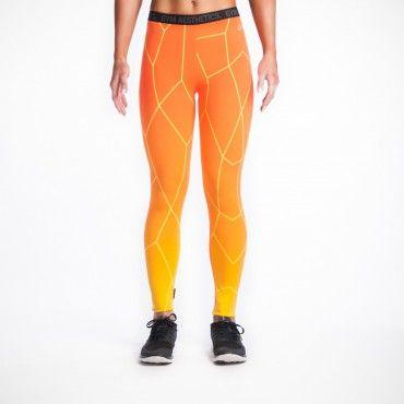 HiTeX Gym Leggings orange-yellow | GYM AESTHETICS