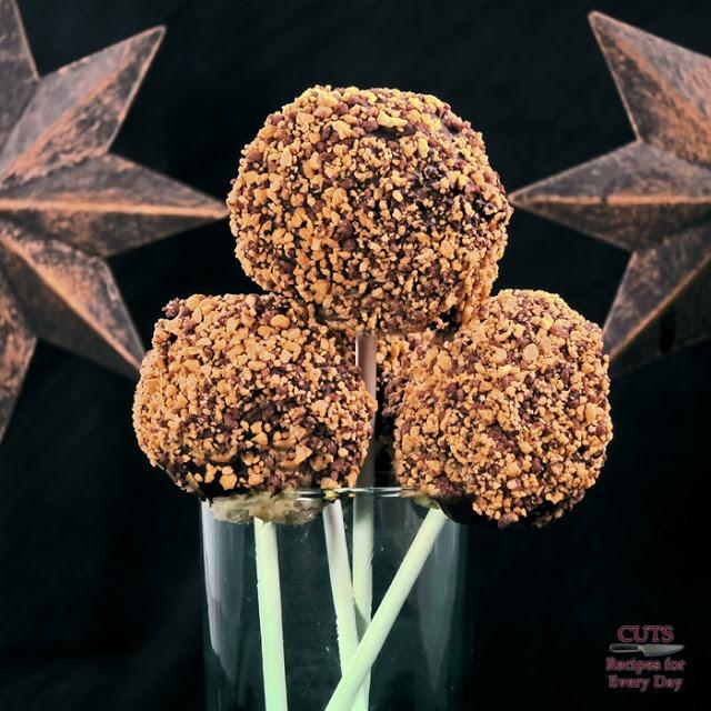 Dark Chocolate Peanut Butter Cheesecake Pops