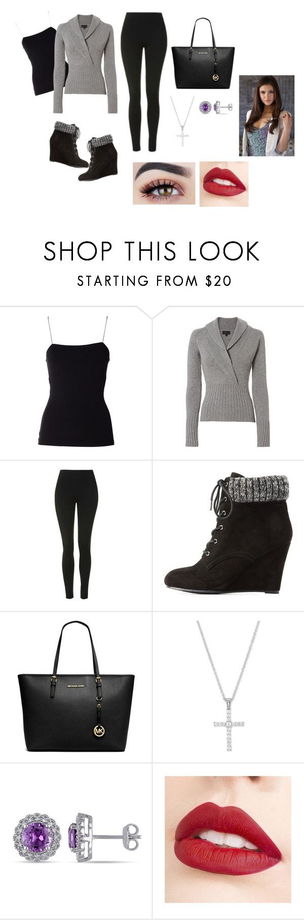 Cozy Outfit by fashion-lover2017 on Polyvore featuring Intermix, T By Alexander Wang, Topshop, Charlotte Russe, Michael Kors, Amour, La Preciosa and Jouer