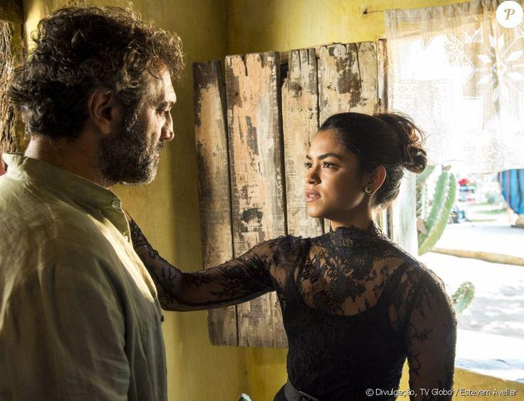 Lucy Alves contracenava com Domingos Montagner na novela 'Velho Chico'