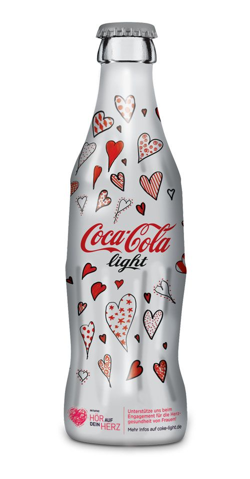 "#Coca-Cola Light ""Listen to Your Heart"" German #limitededition bottle #packaging for World Heart Day PD"