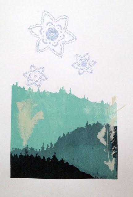 """""""De första snöflingorna"""" Graphic print by Anna Olsson."""