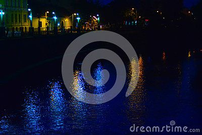 State build lighting and near, the river.