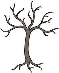 holé mrtvý strom klipart