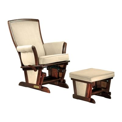 Shermag 37879CB.P4.0189 Contemporary Glider and Ottoman Set