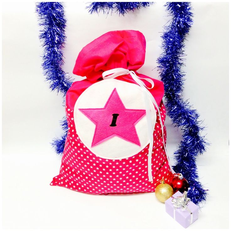 Funky. Super cool Santa sacks, available in 7 starry colours!