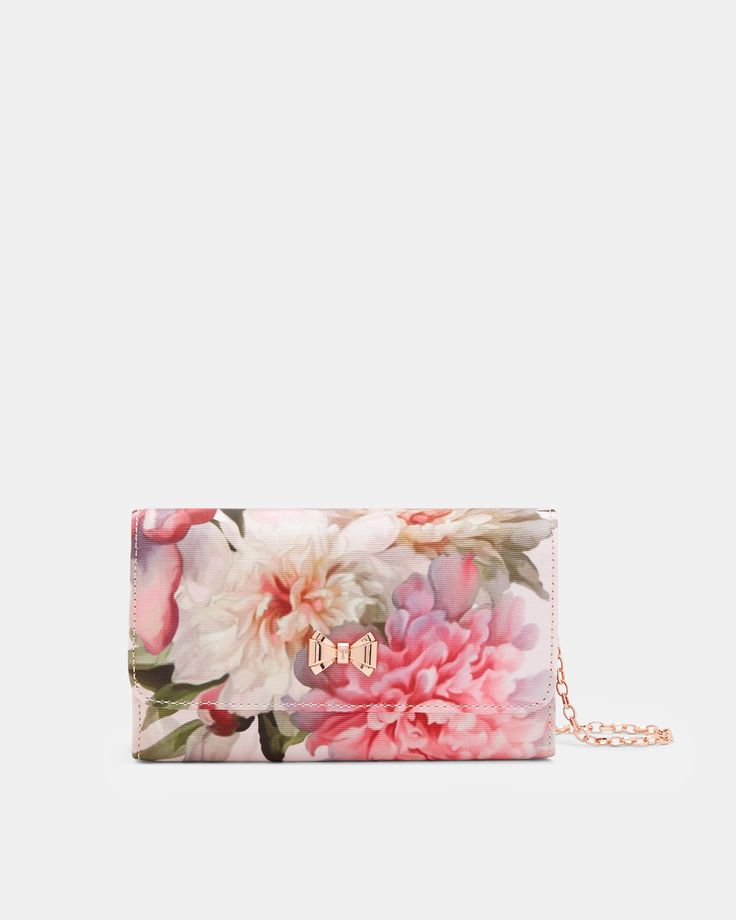 Painted Posie evening bag - Baby Pink | Bags | Ted Baker UK